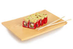 Sushi plate,  on white Royalty Free Stock Images