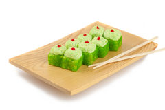 Sushi plate,  on white Royalty Free Stock Photography