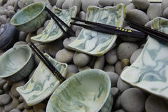 Sushi plates Stock Images