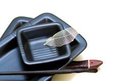 Sushi Plates Royalty Free Stock Photo