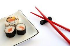 Sushi-Platte stockfotos