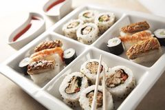 Sushi Platter 1. Variety of Sushi in a dish. See all my food & drink images here stock image