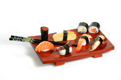 Sushi platter. On white background Stock Image