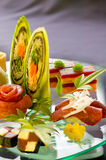 Sushi Platter. With rolls of tuna, crab and beef Stock Photos