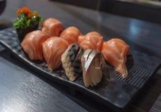 Sushi Platter. Fresh sushi platter served in Japanese restaurant Stock Image