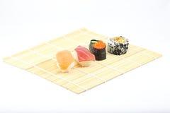 Sushi Platter. On white background Royalty Free Stock Image