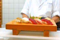 Sushi platter Royalty Free Stock Images