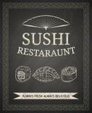 Sushi poster Stock Photos