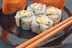 Sushi pour le dîner Photographie stock