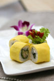 sushi préparés délicieux d'oeufs de poisson Photographie stock libre de droits