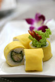 sushi préparés délicieux de roulis d'oeufs de poisson Photographie stock libre de droits