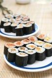 sushi préparés délicieux de studio pris Photos stock