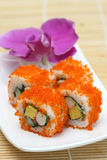 Sushi preparado e delicioso estúdio recolhido fotografia de stock