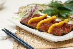 Sushi preparado y delicioso Imagen de archivo libre de regalías