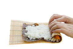 Sushi preparation Stock Photos
