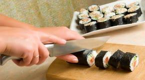 Sushi preparing Stock Image