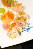 sushi proches de maki vers le haut Photographie stock libre de droits