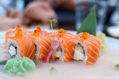 Sushi raffreddati freschi Fotografia Stock
