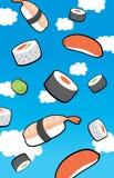 Sushi rain from the sky Stock Photo