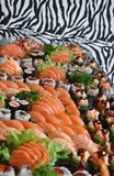 Sushi and raw fish platter Stock Photography