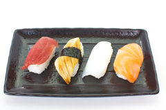 Sushi raw seafood royalty free stock photos