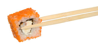 Sushi with red caviar. Stock Image