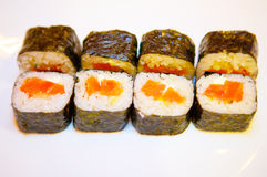 Sushi with red fish 1 Royalty Free Stock Photos