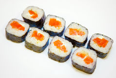 Sushi with red fish 4 Royalty Free Stock Image