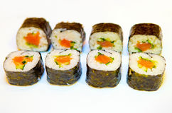 Sushi with red fish 9 Royalty Free Stock Photos