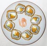 Sushi redondo foto de archivo libre de regalías