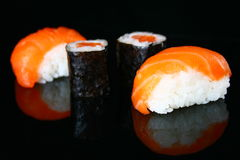 Sushi reflections Stock Image