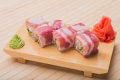Sushi-  refreshment vegetarian Royalty Free Stock Photo