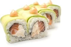 Sushi-  refreshment vegetarian Stock Photo