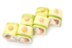 Sushi-  refreshment vegetarian Stock Photography
