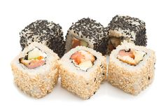 Sushi-  refreshment vegetarian Royalty Free Stock Photos