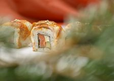 Sushi-  refreshment vegetarian Royalty Free Stock Images