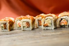 Sushi-  refreshment vegetarian Stock Images