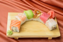 Sushi-  refreshment vegetarian Royalty Free Stock Photography