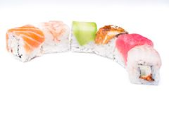 Sushi-  refreshment vegetarian Royalty Free Stock Image