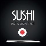 Sushi restaurant menu card. Vector illustration of the Sushi restaurant menu card Stock Photography