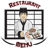 Sushi Restaurant Menu Royalty Free Stock Photography
