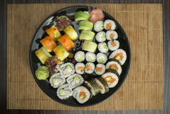 Sushi in restaurant stock images