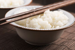 Sushi rice in bowl Royalty Free Stock Image