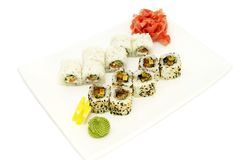 Sushi with rice and fish Royalty Free Stock Photos