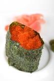 Sushi rojo del tobiko Imagen de archivo libre de regalías