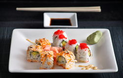 Sushi roll. Great sushi very fresh roll Royalty Free Stock Photo