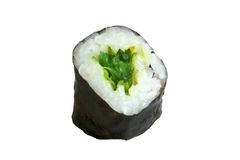 Sushi roll. Isolated on the white background royalty free stock images