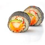 Sushi roll. On white background Royalty Free Stock Image