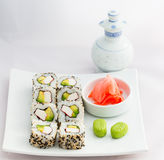 Sushi Roll- California Roll-Japanese Food Stock Photography