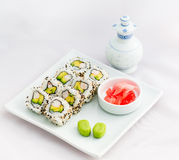 Sushi Roll- California Roll-Japanese Food Royalty Free Stock Image